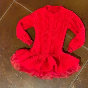 Red sweater with ruffle!